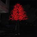 2.5m vermelho artificial árvore decoração do jardim do salgueiro diodo emissor de luz da árvore de negócios dom artesanato