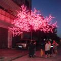 Blue 2.5m artificial árvore de mobiliário de jardim levou luz salgueiro folhas da árvore de artesanato