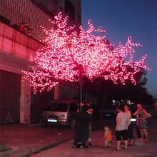 Azul 2.5 m árvore artificial mobiliário de jardim led luz da árvore de salgueiro árvore deixa artesanato