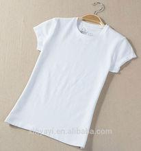 ที่กำหนดเองสีขาวผ้าฝ้าย100%เสื้อยืดสำหรับผู้หญิง/ที่กำหนดเองt- เสื้อผู้หญิงจีนขายส่ง