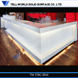 Luminous Commercial Bar Furniture Glowing LED lighted Bar Counter