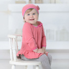 DB705 dave bella 2014 autumn cotton princess sets baby clothes kids clothing set baby chothing knitted sets