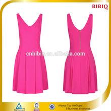 2014 Summer Pink Lady Design Dress Clothes Sleeveless Casual Dress