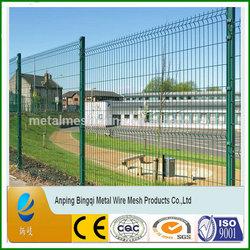 Green PVC Coated square tube house iron fence