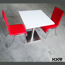 custom size tables and bar chairs used