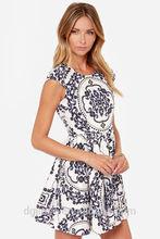 Ivory Print Dress urban clothing/women clothing/wholesale apparel