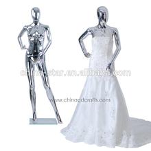 beautiful wedding dress mannequin, chrome mannequin, dress foam mannequins