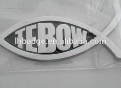 Jesus Fish similar Auto Emblem; Tebow car emblem; auto car sticker;