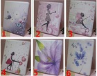 Hot Wholesale printed buffterfly pictures Slim PU leather stand smart cover tablet case for iPad 5 Air