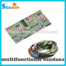 Fashionable Head Gear United States Flag Bandana