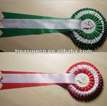 Custom ribbon rosettes award
