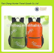 Wholesale waterproof polyester laptop backpack, portable printing foldable storage bag,school bag