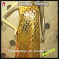 africano indiana lantejoula e glitter toda bordada vestido de noite material de lantejoulas de ouro de tecido para vestuário estágio
