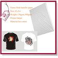 Directo de fábrica al por mayor a4 tamaño de gsm 300 oscuro t- shirt sublimación papel hecho en china