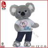 Customize Soft Stuffed Animal t-shirt Koala Plush Toy