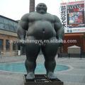 Mármore preto hercules escultura estátua, praça decoração figura escultura em mármore, tamanho grande homem nu escultura estátua