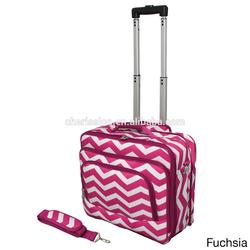 Convenient travel trolley bag rolling computer bag