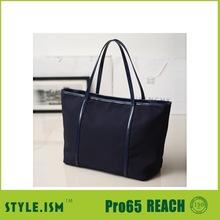 Plain black bag for pad or laptop canvas tote bag leather handle