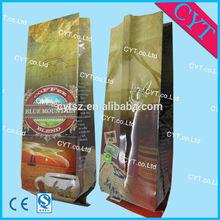 eco ink custom printing plastic empty green coffee tea bags