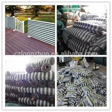 Polietileno de alta densidad de marfil/tan/marrón/gris/blanco cerca de privacidad de pantalla de privacidad rayas fnece balcón de compensación para la cubierta, balcón, balcón del patio de la cubierta
