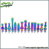 Best popular SS rainbow e cigar atomizer 510 drip tip mouthpiece