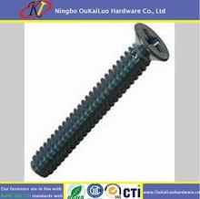 Flat head bolt carbon steel 1022a/countersunk flat head screws
