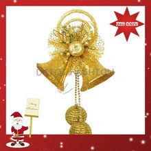 2014 Latest Design Dazzling Christmas Decoration,Dazzling Christmas Bell Decoration For Party,Christmas Picks Gold Bell