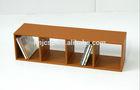 PU leather rectangle camel cd rack