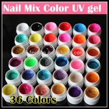 Professional 36 Colors Solid UV gel Pure color Nail Art Gel set