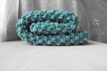 Handmade crochet baby blanket Teal Aqua Chunky knit blanket Newborn Photo Prop, Mini Baby Blanket