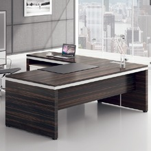 2014 Canada Market Wooden Fashion Desk with Metal Frame and Return