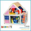 modelo do brinquedo casa de boneca de madeira do natal casa