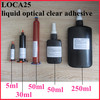 Easy curing don't turn yellow LOCA 25 UV optical glue for iPhone Samsung HTC LCD display digitizer front glass refurbishment