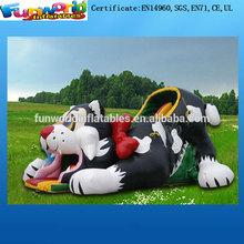 2014 Inflatable Tiger Slide , Big Inflatable Slide Dry for Kids