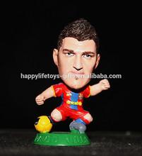 Customize famous human miniature 7cm plastic soccer figures