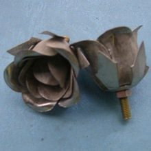 small metal rose flowers for crafts