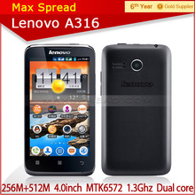 Lenovo A316 MTK6572 Dual-core 1.3GHz 256MB 512MB 4.0inch Android 2.3 3G yxtel mobile phone