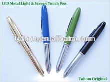 high quality customs logo wholesale flashing bulb pen light up pen