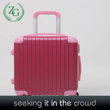 Fancy women luggage bag , ABS small size luggage , red travel luggage
