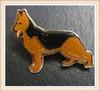2014 New Custom Metal Hotsale German Shepherd alsatian Dog Vintage Rare Enamel Pin Lapel Badge