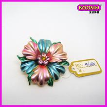 Cheap bulk brooch type enamel flower making brooch alloy jewelry(5680)