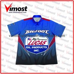 Free design company team motorcycle&auto racing shirt