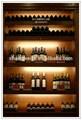 Popular de madeira rack de vinho, prateleira de exposição para a barra, armário de show para exibição