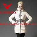 el último 2014 real de piel de alta calidad de invierno brillante estilo de la moda de las señoras ropa de japón
