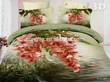 King 3d Bedding Beautiful Design Duvet Quilt Cover Set,Bed in a bag 100% Polyester