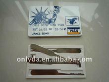 Car repair tools Bank visa card machine and door lock pick tool James bond 007, high-class locksmith needed tools