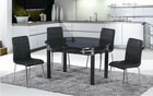 GOOD quality expandable glass dining table with white powder coated frame
