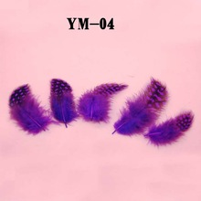 MS purple feather nail stickers Nail Art with more colors wholesale price