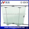 aprobado por la ce de calor de aislamiento de seguridad de vidrio sin marco puerta corredera