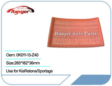 Car Air Filter 0K011-13-Z40 for KIA Retona/ Sportage